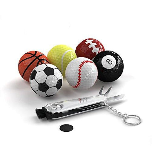 Sports Themed Golf Balls-Sports - www.Gifteee.com - Cool Gifts \ Unique Gifts - The Best Gifts for Men, Women and Kids of All Ages