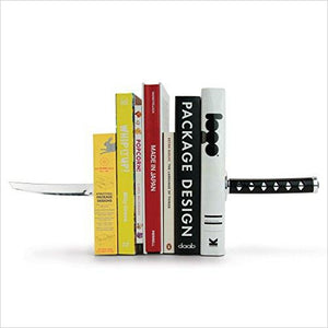 Katana Samurai Sword Bookends-Home - www.Gifteee.com - Cool Gifts \ Unique Gifts - The Best Gifts for Men, Women and Kids of All Ages