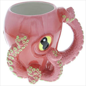 Octopus Ceramic 3D Coffee Mug with Tentacle Handle-Kitchen - www.Gifteee.com - Cool Gifts \ Unique Gifts - The Best Gifts for Men, Women and Kids of All Ages