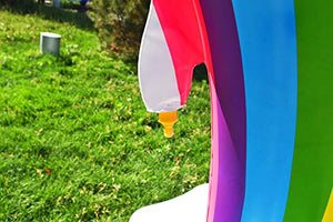 Inflatable Rainbow Unicorn Arch Sprinkler-Toy - www.Gifteee.com - Cool Gifts \ Unique Gifts - The Best Gifts for Men, Women and Kids of All Ages