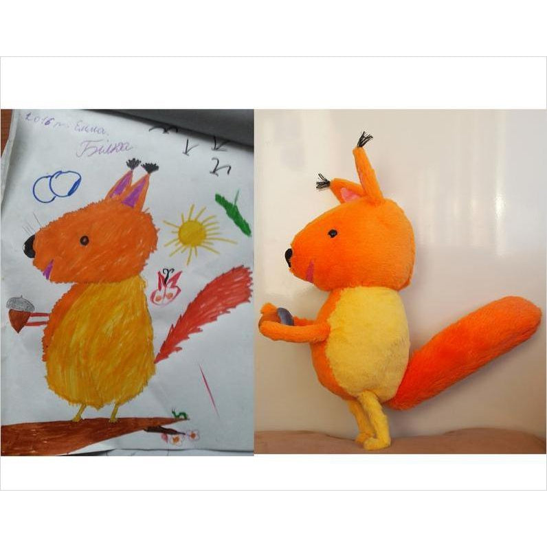 Create a Plush From Kids Drawing-custom puppet - www.Gifteee.com - Cool Gifts \ Unique Gifts - The Best Gifts for Men, Women and Kids of All Ages