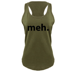 Meh Ladies Gathered Racerback Tank Top