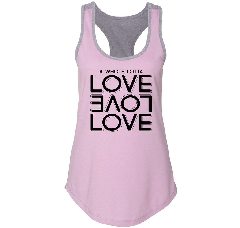 A Whole Lot Of Love Ladies Colorblock Racerback Tank Top