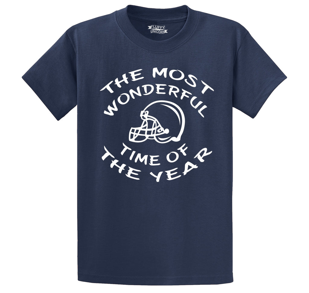 The Most Wonderful Time Of The Year Football Men's Heavyweight Cotton Tee Shirt