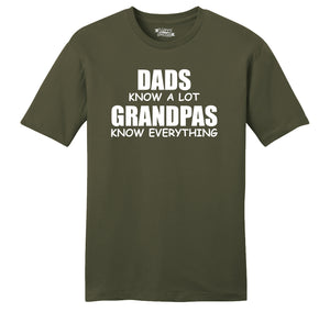 Dads Know A Lot Grandpas Know Everything Mens Ringspun Cotton Tee Shirt