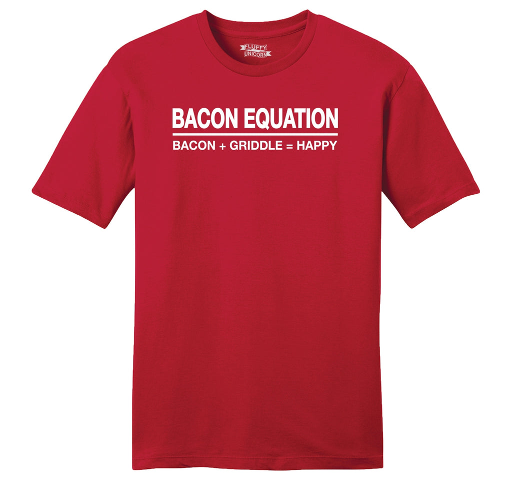 Bacon Equation Equals Happy Mens Ringspun Cotton Tee Shirt
