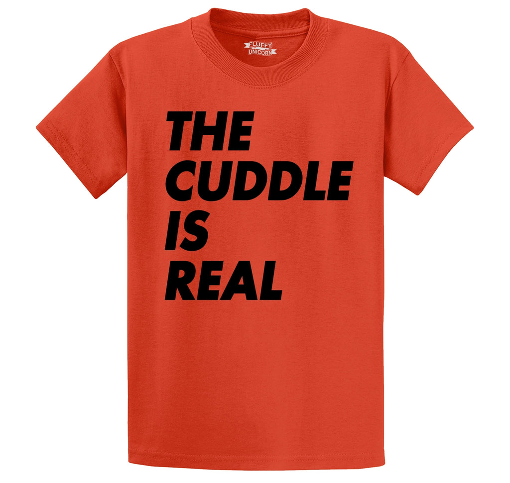 The Cuddle Is Real Funny Tee Valentines Day Gift Tee Men's Heavyweight Cotton Tee Shirt
