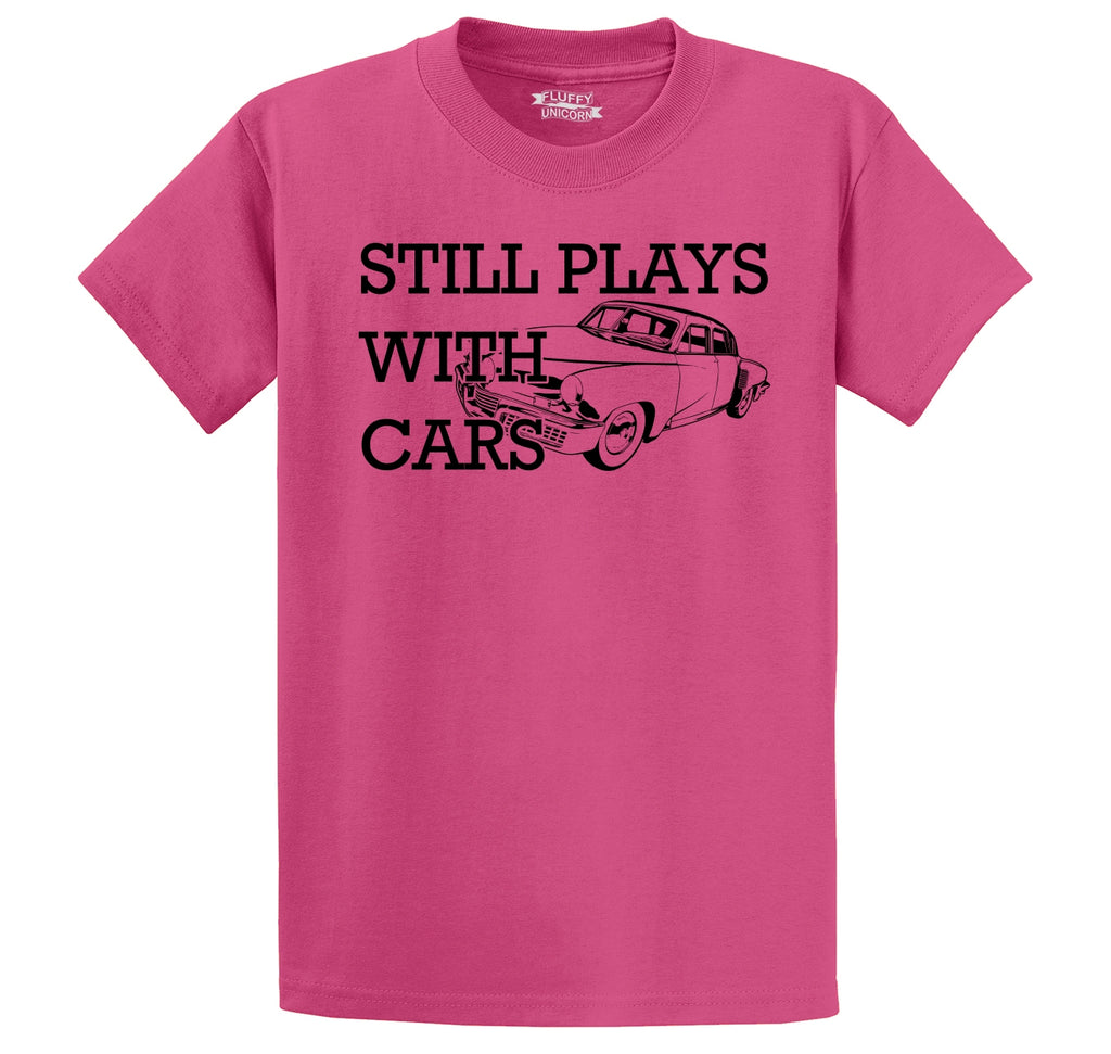 I Still Play With Cars Men's Heavyweight Big & Tall Cotton Tee Shirt