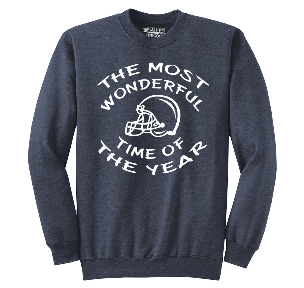 The Most Wonderful Time Of The Year Football Crewneck Sweatshirt