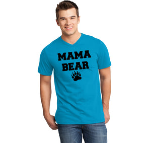 Mama Bear Mens Short Sleeve Ringspun V Neck