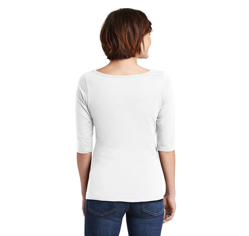 The Man The Legend Ladies Wide Neck 3/4 Sleeve Tee
