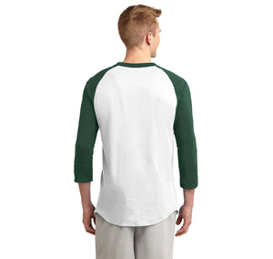 Bearded Guys Cuddle Better Mens 3/4 Sleeve Raglan Jersey
