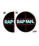 RAP FAN Stickers for Serato/Traktor Vinyl