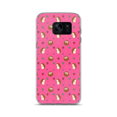 Hedgehog Pattern Pink Samsung Case