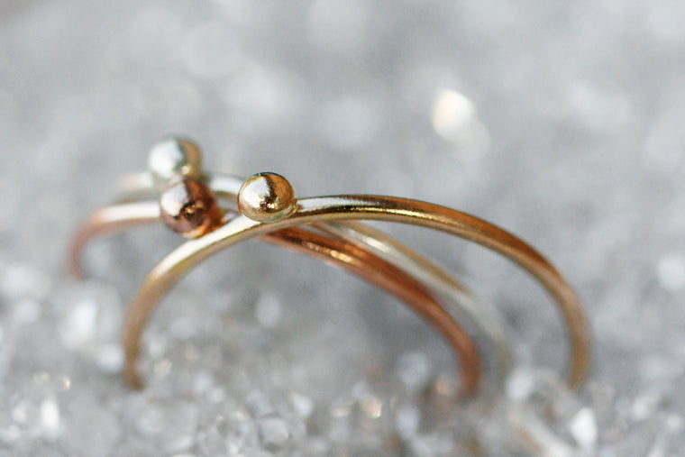 Dew Drop Ring // Rose Gold, Gold, or Silver