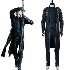 Devil May Cry V DMC 5 Vergil Aged Outfit Cosplay Costume
