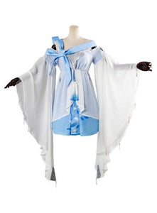 Vocaloid Vsinger Blue Dress Cosplay Costume