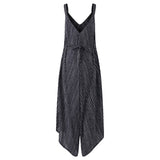Oversize 2018 Rompers Womens Jumpsuit Sexy Strapless Casual Loose Striped Beach Wear Backless Jumpsuits