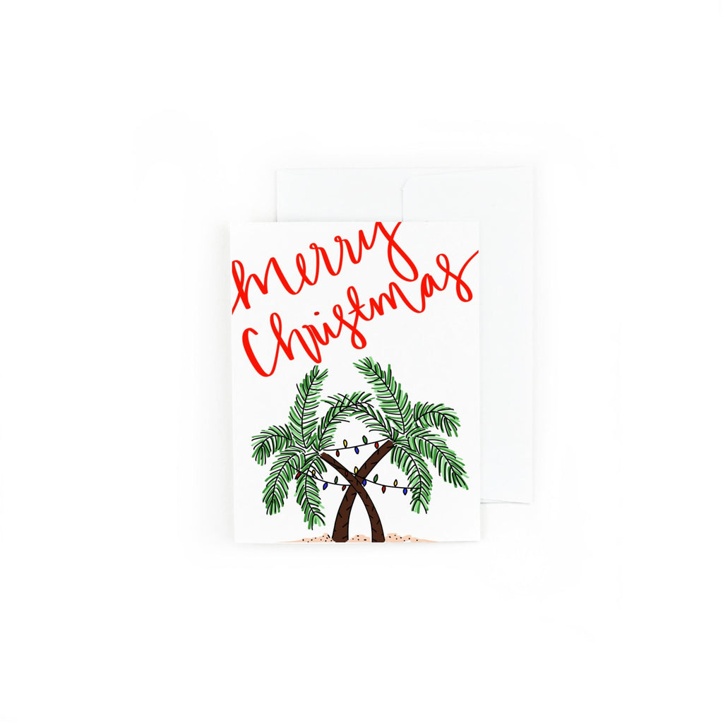 Tropical Merry Christmas Holiday Greeting Card