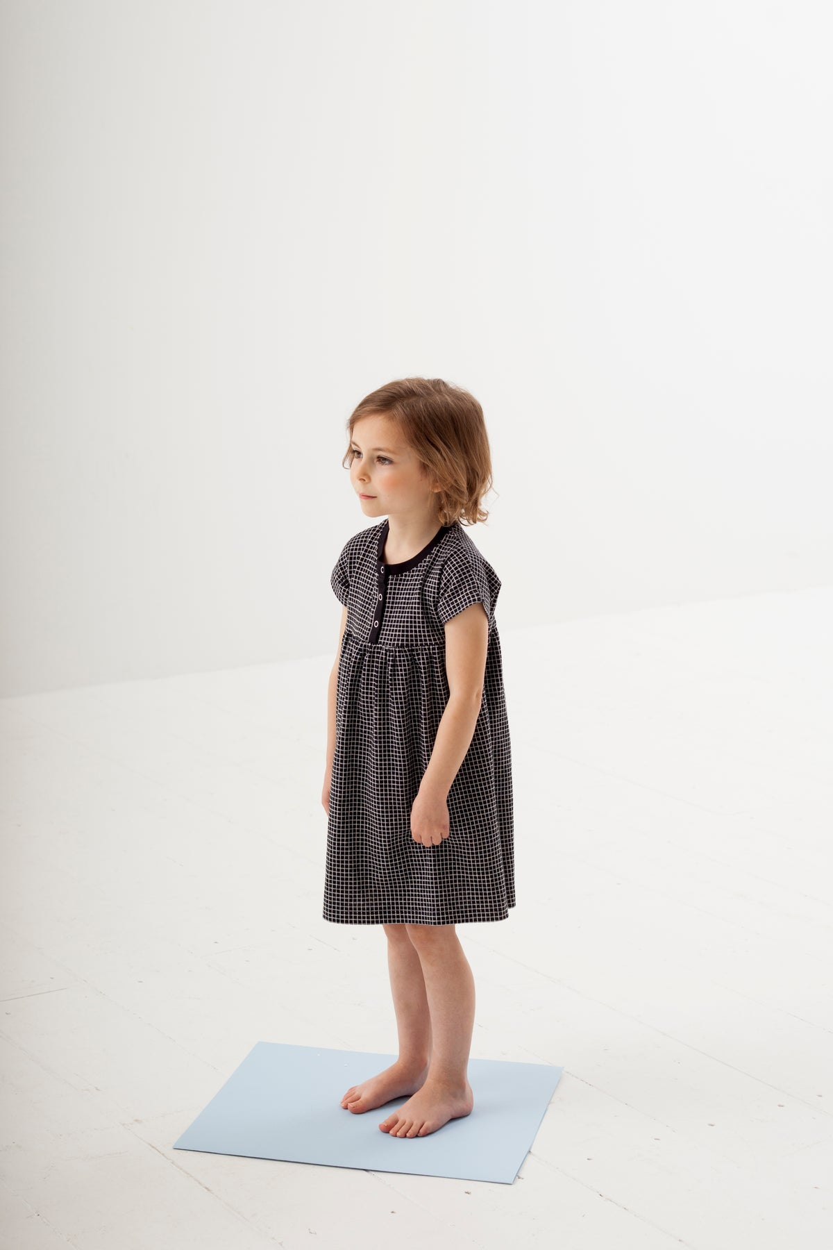 Grid Black Jersey Dress