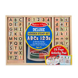 Melissa & Doug Wooden Alphabet Stamps and Activity Set