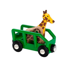 Image of Giraffe & Wagon by BRIO