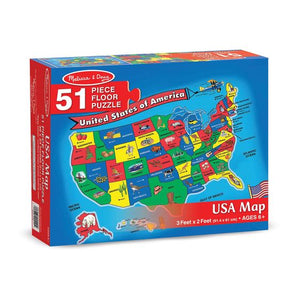 Image of 51 piece USA Floor Puzzle packaging
