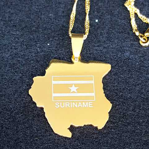 Suriname Star Map Necklace - 1st Culture