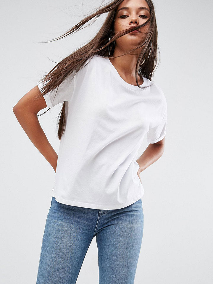 Boxy7 T-Shirt with Roll Sleeve