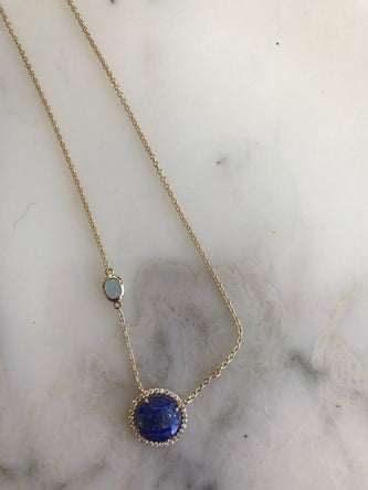 Lapis Blue gold plated