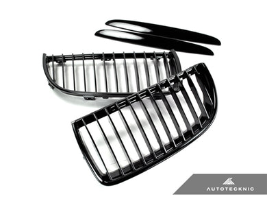 Shop AutoTecknic Replacement Glazing Black Front Grilles - E90 Sedan/ E91 Wagon | 3 Series - AutoTecknic