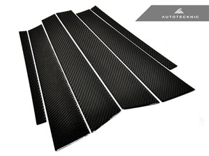 Shop AutoTecknic Carbon Fiber B & C Pillar Covers - BMW F30 3-Series Sedan - AutoTecknic