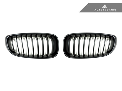 Shop AutoTecknic Replacement Stealth Black Front Grilles - F34 3-Series Gran Turismo - AutoTecknic