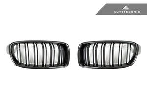 Shop AutoTecknic Replacement Dual-Slats Carbon Front Grilles - F30 3-Series Sedan | F31 3-Series Wagon - AutoTecknic