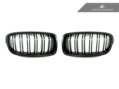 Shop AutoTecknic Replacement Dual-Slats Stealth Black Front Grilles - F30 3-Series - AutoTecknic