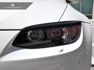 Shop AutoTecknic Carbon Headlight Covers -  BMW E92/ E93 3-Series Coupe/ Convertible & M3 - AutoTecknic