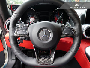 Shop AutoTecknic Carbon Fiber Steering Wheel Trim - Mercedes-Benz Various AMG Vehicles - AutoTecknic