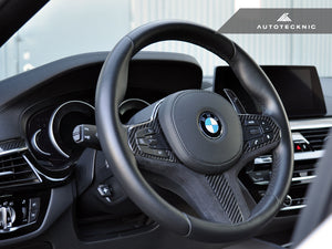 Shop AutoTecknic Carbon Alcantara Steering Wheel Trim - G11/ G12 7-Series - AutoTecknic