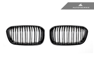 Shop AutoTecknic Replacement Dual-Slats Glazing Black Front Grilles - F20 1-Series LCI (2015-Up) - AutoTecknic