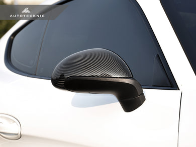 Shop AutoTecknic Replacement Carbon Fiber Mirror Covers - Porsche 991 Carrera | 981 Cayman / Boxster - AutoTecknic