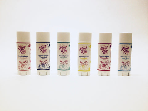 Vegan lip balms- kaori kiss natural lip balms