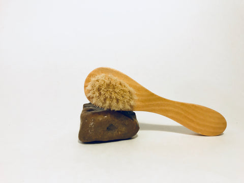 Natural face brush- wooden-face washing brush