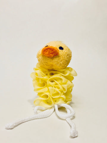 baby sponge- duckie pouf and sponge