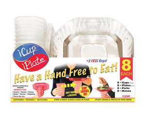 PARTY PACK SPECIAL: 2 iCup iPlate iFork Combo 8 Packs for $29.99