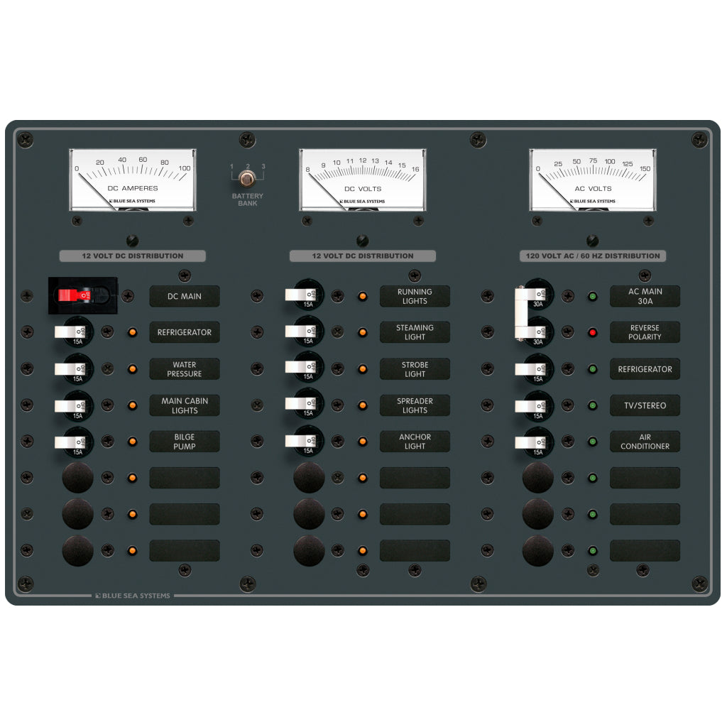 Blue Sea 8084 AC Main + 6 Pos/DC Main + 15 Pos.