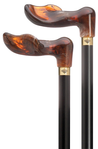 Amber Palm Grip, Black Hardwood Shaft, RIGHT 36