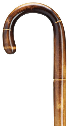 Stepped & Scorched Tourist Chestnut Wood Walking Cane | 42