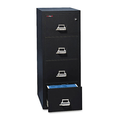 "Four-Drawer Legal Insulated Vertical File Cabinet, 20 13/16""w x 31 9/16""d x 52 3/4""h"