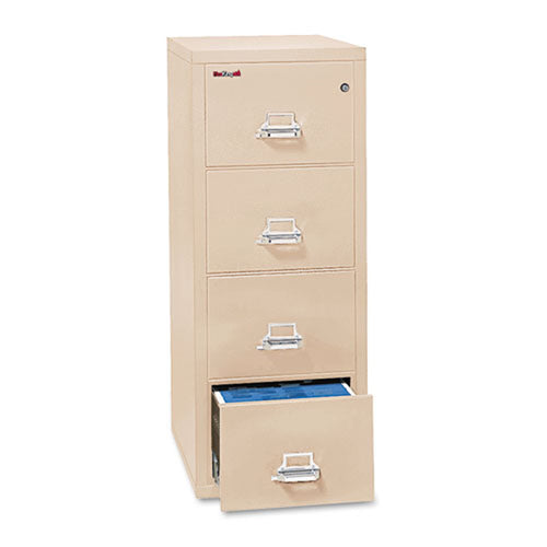 "Four-Drawer Letter Insulated Vertical File Cabinet, 17 3/4""w x 25""d x 52 3/4""h"