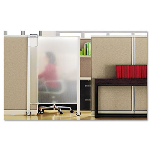 "Premium Workstation Privacy Screen, 38""w x 65""h, Translucent w/ Silver"